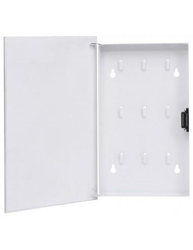 Magnetinė raktų dėžutė, baltos spalvos, 30x20x5,5cm   Dirbtuvių kabliai   duodu.lt