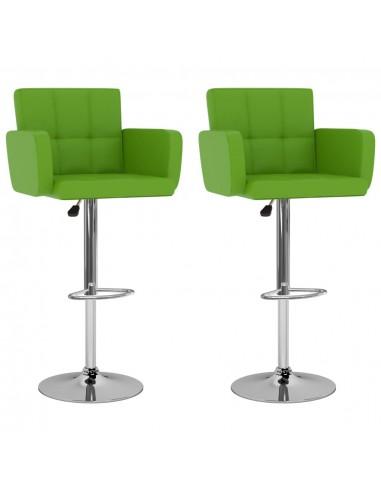 Baro taburetės, 2vnt., žalios spalvos, dirbtinė oda   Stalai ir Baro Kėdės   duodu.lt