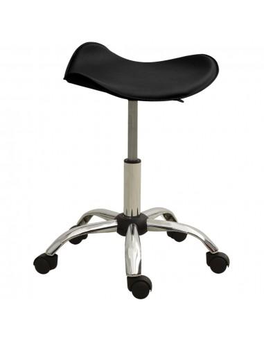Spa salono taburetė, juodos spalvos, dirbtinė oda | Salonų Kėdės | duodu.lt