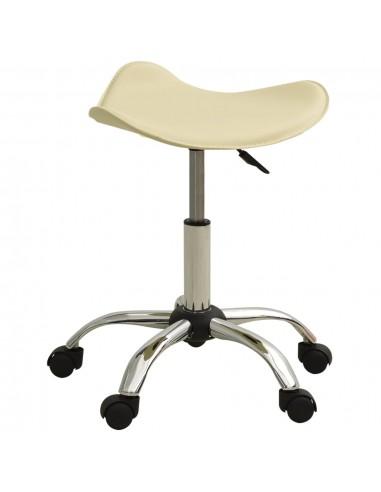 Spa salono taburetė, kreminės spalvos, dirbtinė oda   Salonų Kėdės   duodu.lt