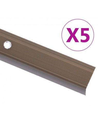 Profiliai laiptams, 5vnt., rudi, 100cm, aliuminis, L formos | Laiptai | duodu.lt