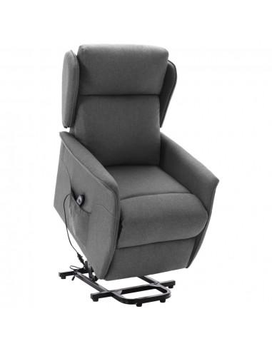 Atsistojantis atlošiamas krėslas, pilkas, audinys | Foteliai, reglaineriai ir išlankstomi krėslai | duodu.lt