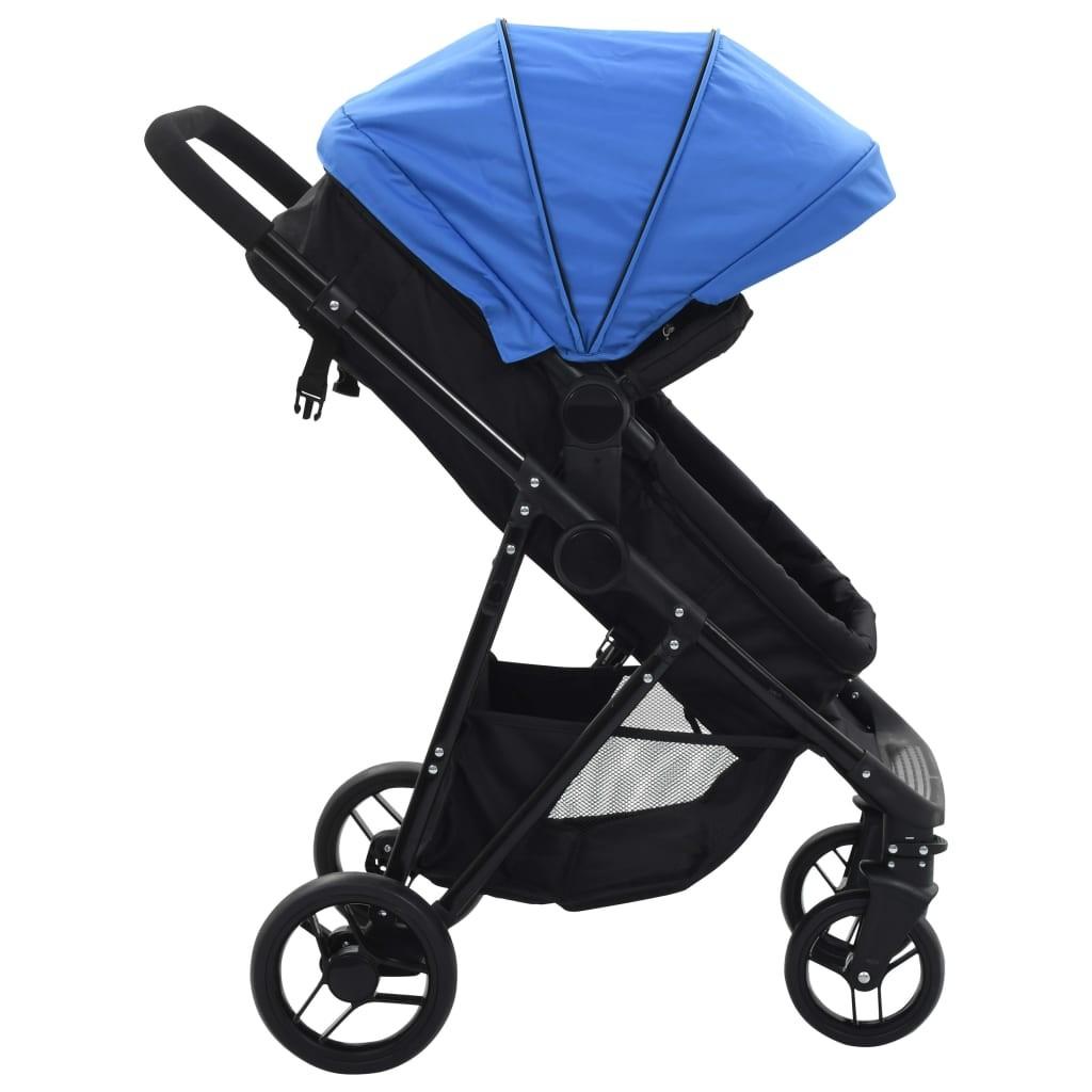 Vaikiškas dvivietis vežimėlis, plienas, raudonas/juodas  | Kūdikių Vėžimėliai | duodu.lt