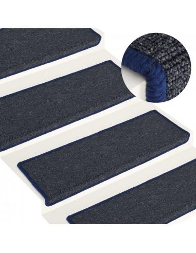 Laiptų kilimėliai, 15vnt., pilkos ir mėlynos spalvos, 65x25cm | Laiptų kilimėliai | duodu.lt