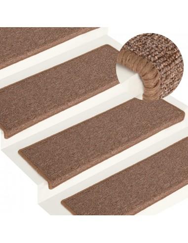 Laiptų kilimėliai, 15vnt., rudos spalvos, 65x25cm | Laiptų kilimėliai | duodu.lt