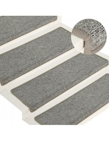 Laiptų kilimėliai, 15vnt., baltos ir pilkos spalvos, 65x25cm   Laiptų kilimėliai   duodu.lt
