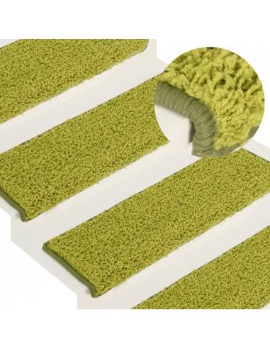 Laiptų kilimėliai, 15vnt., žalios spalvos, 65x25cm | Laiptų kilimėliai | duodu.lt