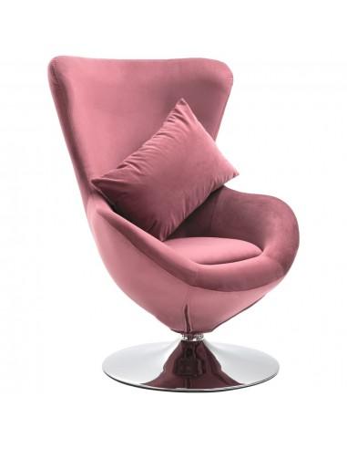 Pasukama kėdė su pagalvėle, rožinės spalvos, aksomas | Foteliai, reglaineriai ir išlankstomi krėslai | duodu.lt