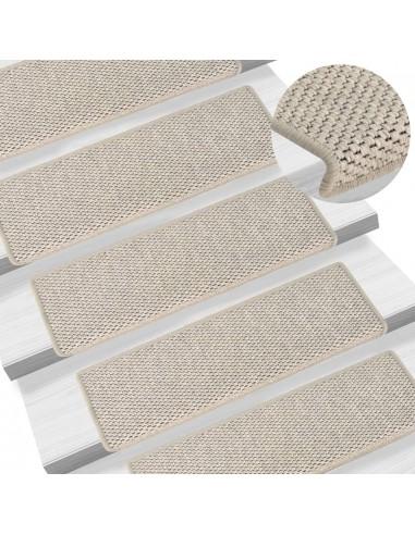 Lipnūs laiptų kilimėliai, 15vnt., sidabrinės spalvos, 65x25cm   Laiptų kilimėliai   duodu.lt