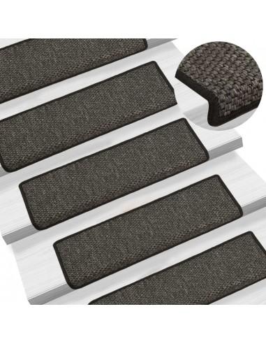 Lipnūs laiptų kilimėliai, 15vnt., antracito spalvos, 65x25cm | Laiptų kilimėliai | duodu.lt