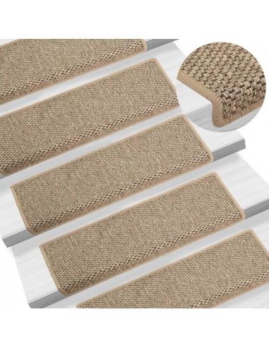 Lipnūs laiptų kilimėliai, 15vnt., tamsios smėlio, 65x25cm | Laiptų kilimėliai | duodu.lt
