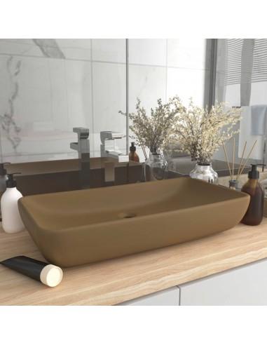 Prabangus praustuvas, kreminis, 71x38cm, keramika, stačiakampis | Vonios praustuvai | duodu.lt