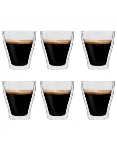 Dvigubos sienelės stiklinės Latte Macchiato, 6vnt., 280ml   Kavos ir Arbatos Puodeliai   duodu.lt