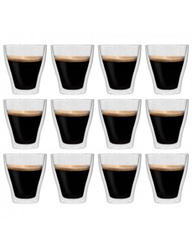 Dvigubos sienelės stiklinės Latte Macchiato, 12vnt., 280ml | Kavos ir Arbatos Puodeliai | duodu.lt