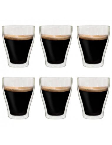 Dvigubos sienelės stiklinės Latte Macchiato, 6vnt., 370ml | Kavos ir Arbatos Puodeliai | duodu.lt