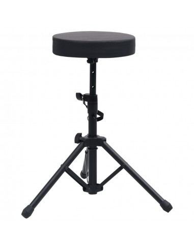 Reguliuojama būgnų kėdutė, juodos spalvos, apskrita | Suoliukai ir kėdutės muzikos instrumentams | duodu.lt