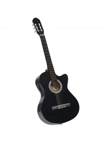 Akustinė gitara su ekvalaizeriu, juodos spalvos, 6 stygos | Gitaros | duodu.lt