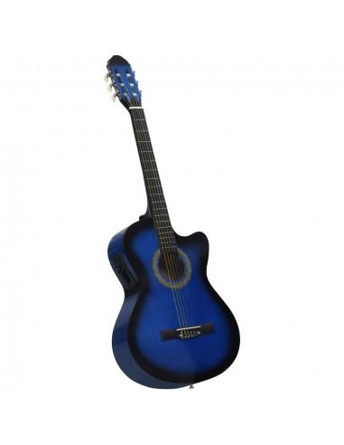 Akustinė gitara su ekvalaizeriu, mėlynos spalvos, 6 stygos   | Gitaros | duodu.lt