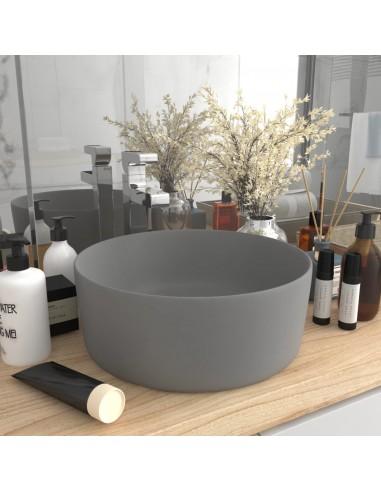 Prabangus praustuvas, matinis pilkas, 40x15cm, keramika | Vonios praustuvai | duodu.lt