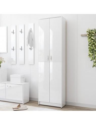 Koridoriaus drabužių spinta, balta, 55x25x189cm, MDP, blizgi | Drabužių spintos | duodu.lt