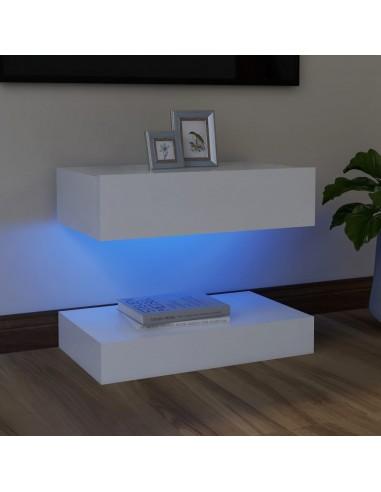 Televizoriaus spintelė su LED apšvietimu, balta, 60x35cm | Pramogų Centrai ir TV Stovai | duodu.lt