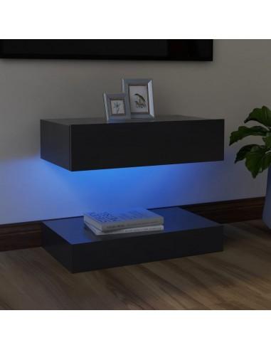 Televizoriaus spintelė su LED apšvietimu, pilka, 60x35cm   Pramogų Centrai ir TV Stovai   duodu.lt