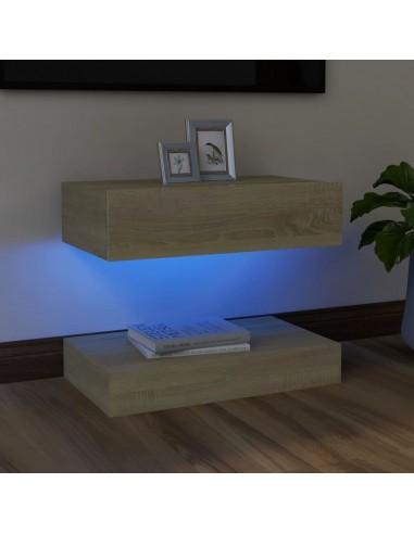 Televizoriaus spintelė su LED apšvietimu, ąžuolo, 60x35cm   Pramogų Centrai ir TV Stovai   duodu.lt