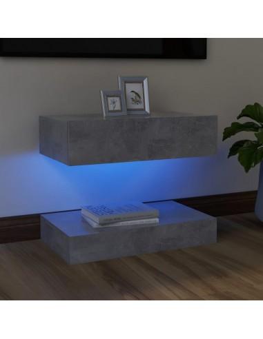 TV spintelė su LED apšvietimu, betono pilka, 60x35cm    Pramogų Centrai ir TV Stovai   duodu.lt