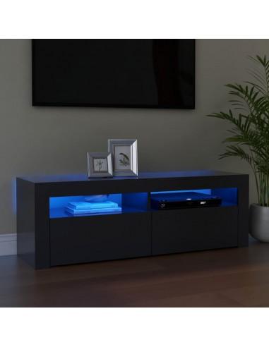 Televizoriaus spintelė su LED apšvietimu, pilka, 120x35x40cm | Pramogų Centrai ir TV Stovai | duodu.lt