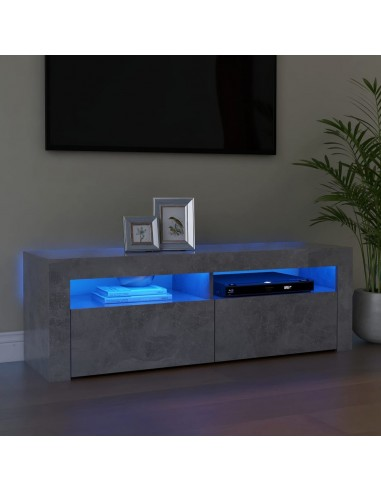 TV spintelė su LED apšvietimu, betono pilka, 120x35x40 cm   Pramogų Centrai ir TV Stovai   duodu.lt