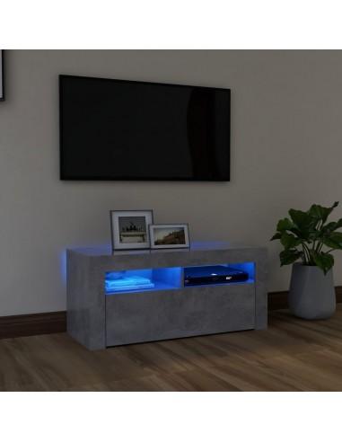 TV spintelė su LED apšvietimu, betono pilka, 90x35x40cm | Pramogų Centrai ir TV Stovai | duodu.lt