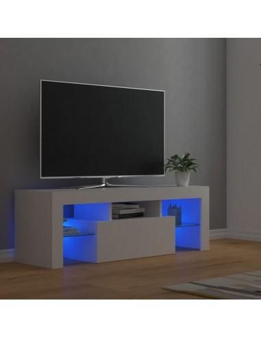 Televizoriaus spintelė su LED apšvietimu, balta, 120x35x40cm   Pramogų Centrai ir TV Stovai   duodu.lt