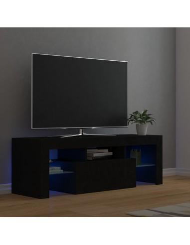 Televizoriaus spintelė su LED apšvietimu, juoda, 120x35x40cm | Pramogų Centrai ir TV Stovai | duodu.lt