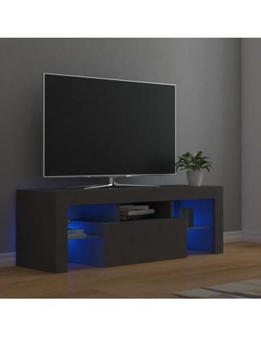 Televizoriaus spintelė su LED apšvietimu, pilka, 120x35x40cm   Pramogų Centrai ir TV Stovai   duodu.lt