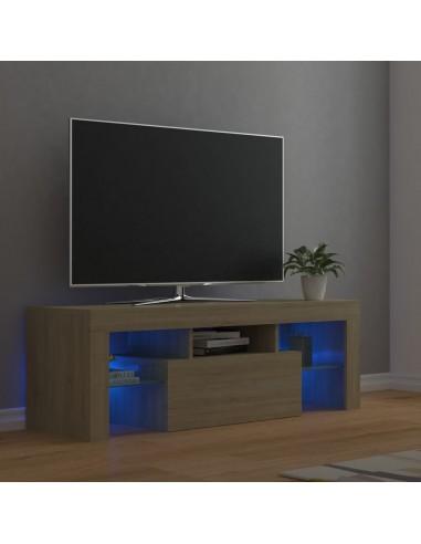 Televizoriaus spintelė su LED apšvietimu, ąžuolo, 120x35x40cm   Pramogų Centrai ir TV Stovai   duodu.lt