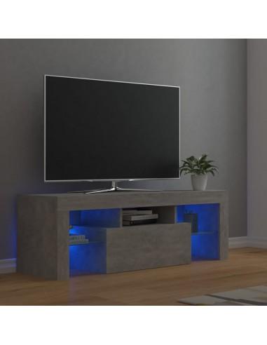 TV spintelė su LED apšvietimu, betono pilka, 120x35x40cm | Pramogų Centrai ir TV Stovai | duodu.lt