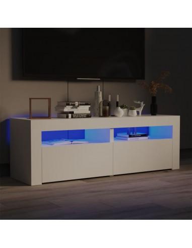 TV spintelė su LED apšvietimu, balta spalva, 120x35x40 cm   Pramogų Centrai ir TV Stovai   duodu.lt
