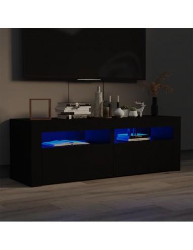 TV spintelė su LED apšvietimu, juodos spalvos, 120x35x40 cm | Pramogų Centrai ir TV Stovai | duodu.lt
