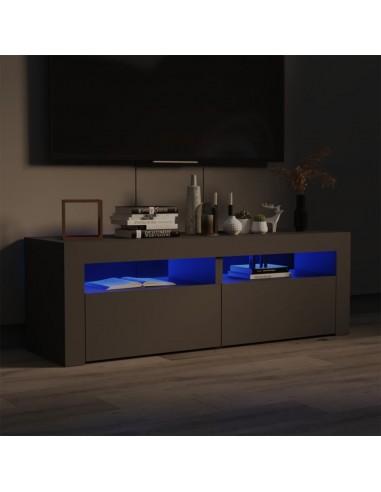 TV spintelė su LED, pilkos spalvos, 120x35x40 cm | Pramogų Centrai ir TV Stovai | duodu.lt