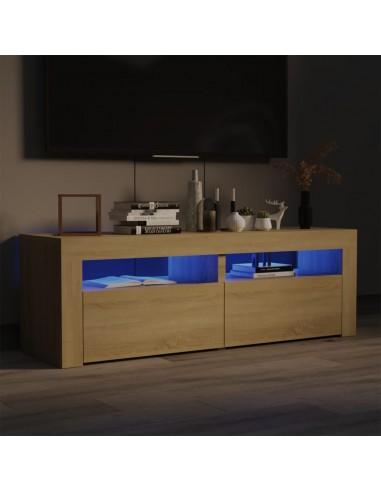 TV spintelė su LED, sonoma ąžuolo, 120x35x40 cm   Pramogų Centrai ir TV Stovai   duodu.lt