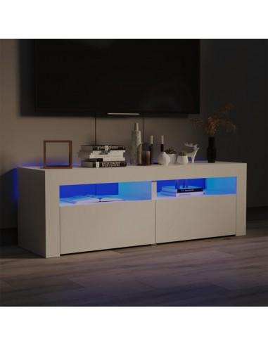 TV spintelė su LED apšvietimu, blizgi balta, 120x35x40 cm   Pramogų Centrai ir TV Stovai   duodu.lt