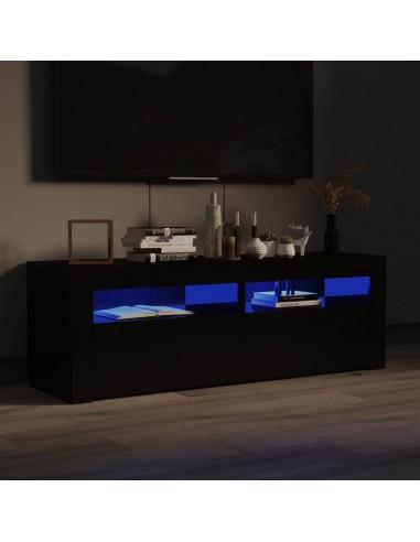TV spintelė su LED, juoda blizgi, 120x35x40 cm | Pramogų Centrai ir TV Stovai | duodu.lt