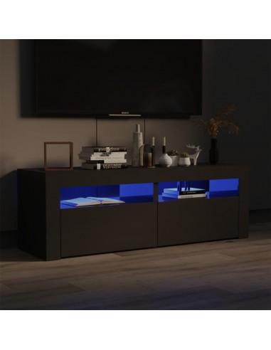 TV spintelė su LED, pilkos blizgios spalvos, 120x35x40 cm | Pramogų Centrai ir TV Stovai | duodu.lt