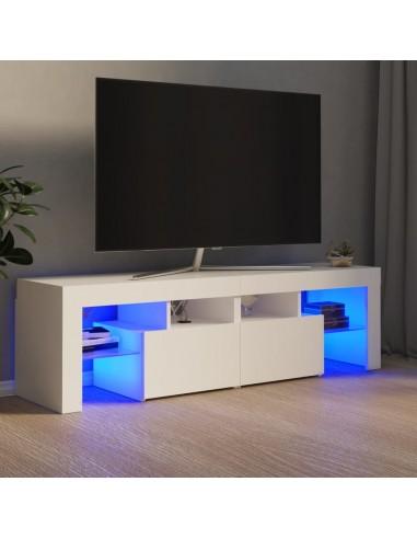 Televizoriaus spintelė su LED apšvietimu, balta, 140x35x40cm | Pramogų Centrai ir TV Stovai | duodu.lt