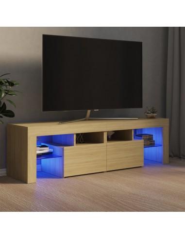 Televizoriaus spintelė su LED apšvietimu, ąžuolo, 140x35x40cm | Pramogų Centrai ir TV Stovai | duodu.lt
