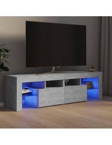 TV spintelė su LED apšvietimu, betono pilka, 140x35x40cm | Pramogų Centrai ir TV Stovai | duodu.lt