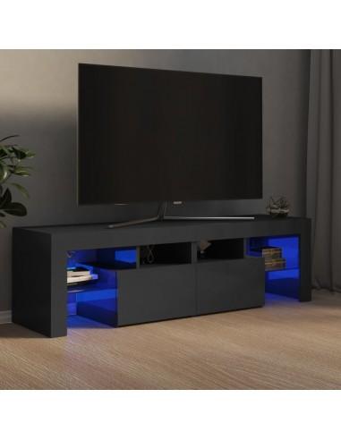 TV spintelė su LED apšvietimu, pilka, 140x35x40cm, blizgi | Pramogų Centrai ir TV Stovai | duodu.lt