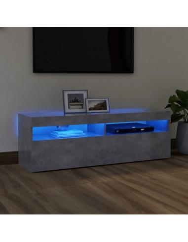 TV spintelė su LED apšvietimu, betono pilka, 120x35x40 cm | Pramogų Centrai ir TV Stovai | duodu.lt