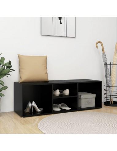 Spintelė batams-suoliukas, juodos spalvos, 105x35x35cm, MPD | Stovai ir Lentynos Avalynei | duodu.lt