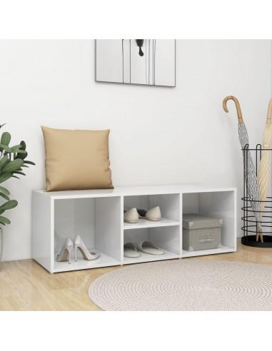 Spintelė batams-suoliukas, baltos spalvos, 105x35x35cm, MPD   Stovai ir Lentynos Avalynei   duodu.lt